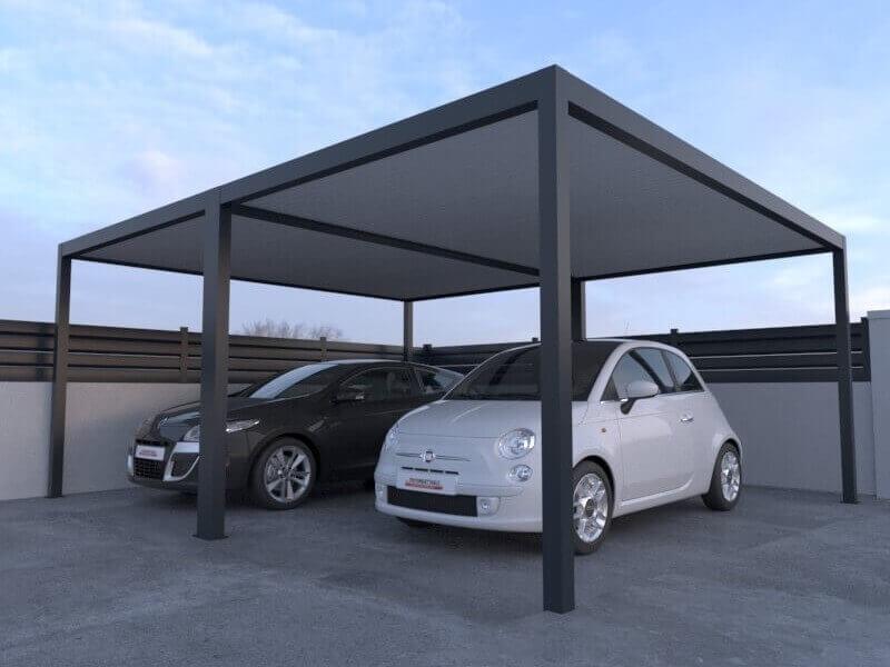 carport-double-aluminium-toit-plat-5000-x-3000-mm-OK